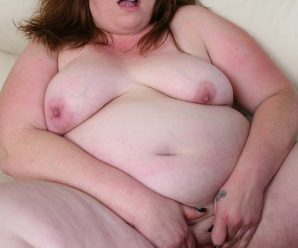 Mature fatty gobbling and gagging over a enormous chisel