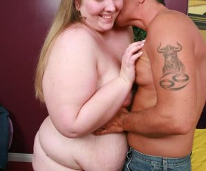 Delicious face plus-size Menoly licking a meaty fleshy pink cigar and make use of it to pleasure her pussies