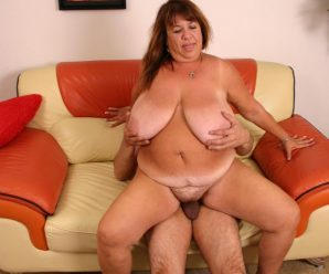Nasty bbw Grace pleased by a crazy wolf and taking hard knob thrusting in her twat