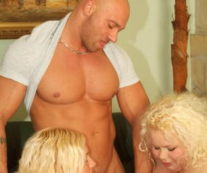 Strenuous weight fatties Melinda Shy and Faye takes turns guzzling a thick rock hard stiffy